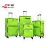 High end good quality trolley bag zipper suitcase softside travel luggage with trolley