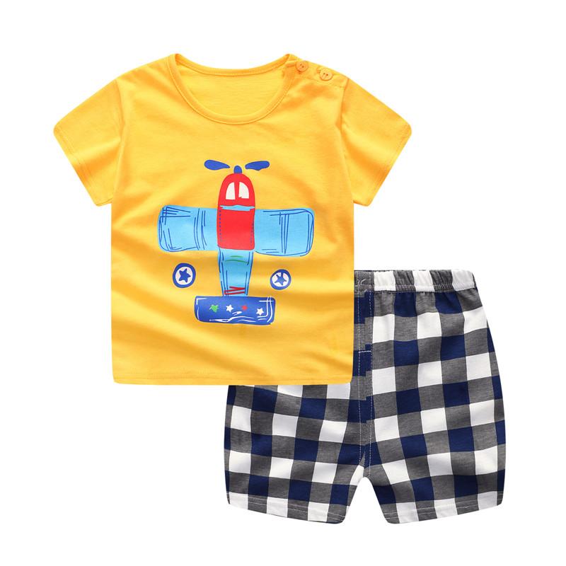 1e3ed91a3fccb Hot Sale Baby Boy Clothes Summer Baby Boy Clothing Set Cotton Suits Short Infant  Kids Clothes 2018
