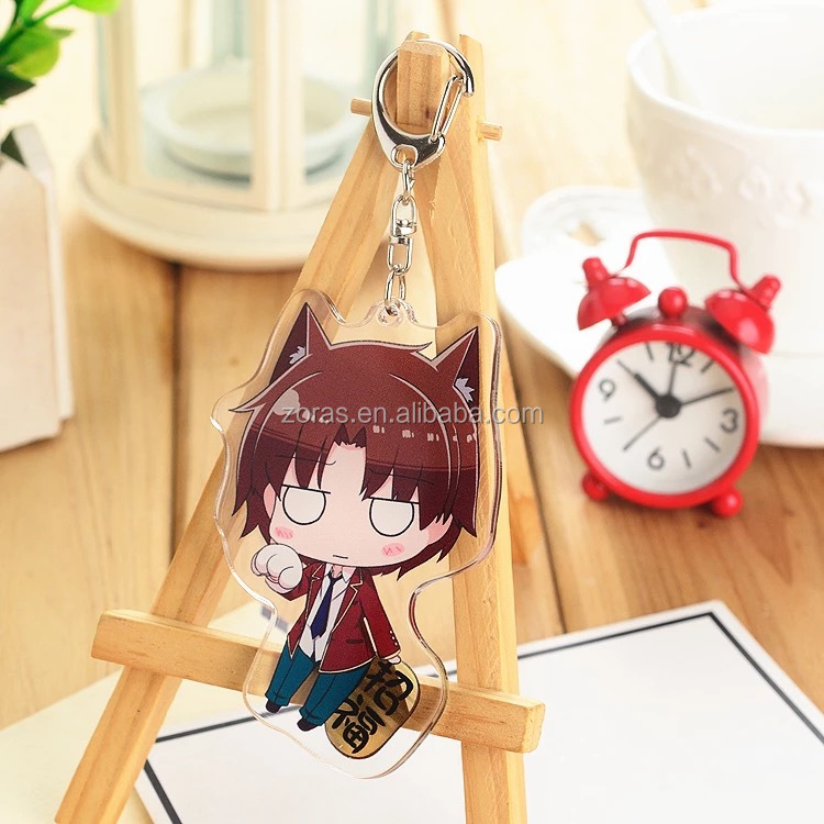High Quality Cheap Price Laser Cut Acrylic keychain Charms With Thermal Transfer Printing