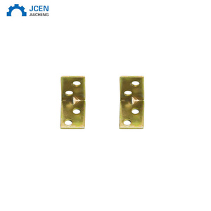 Custom wood chair connector brass corner brackets