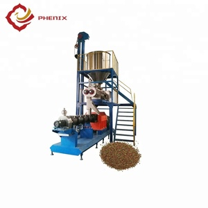 Automatic Bulk Extruded Dry Fish/Pet Food Extruder Machine