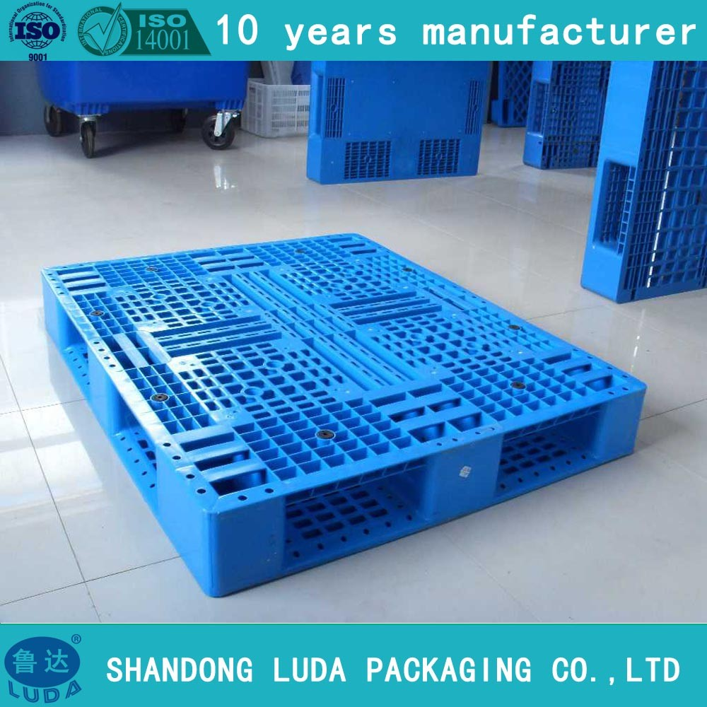 HDPE single side open bottom deck plastic pallet