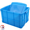 Good quality cheap plastic picnic crates with lid for vegetable & fruits