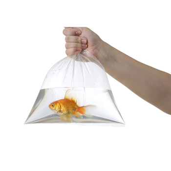 Leak Proof Fish Transport Square Bottom Plastic Clear Bag