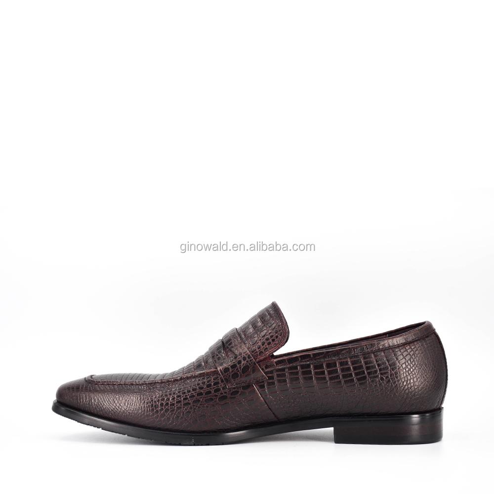 leather shoes embossed genuine Crocodile men dress sole durable 4FETnPq7xn