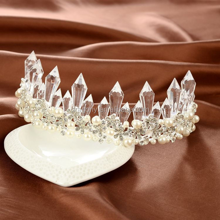 New Fashion Crystal Rhinestone Floral Tiara <strong>Crown</strong> Gold/Silver Plated Wedding Hair Accessories