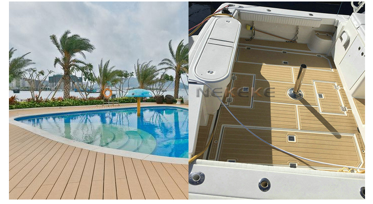 Hot salling Marine Boat Yacht Synthetic Teak PVC Decking