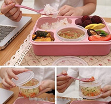 2015 Best Selling Leakage Proof Lunch Bento box/Microwave and Dishwasher Safe Lunch Box/container for food with dividers