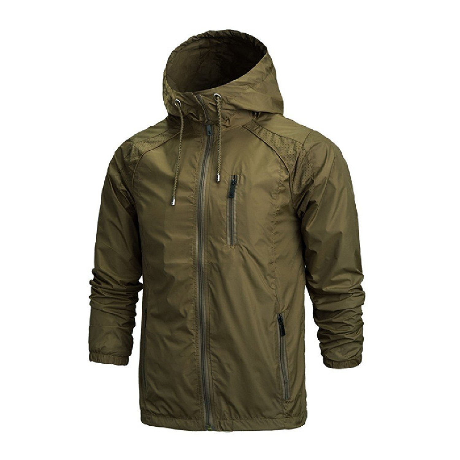 Zimaes-Men Fashion Sports Outdoor Hooded Double-Layer Leisure Leisure Sports Dust Coat Jacket