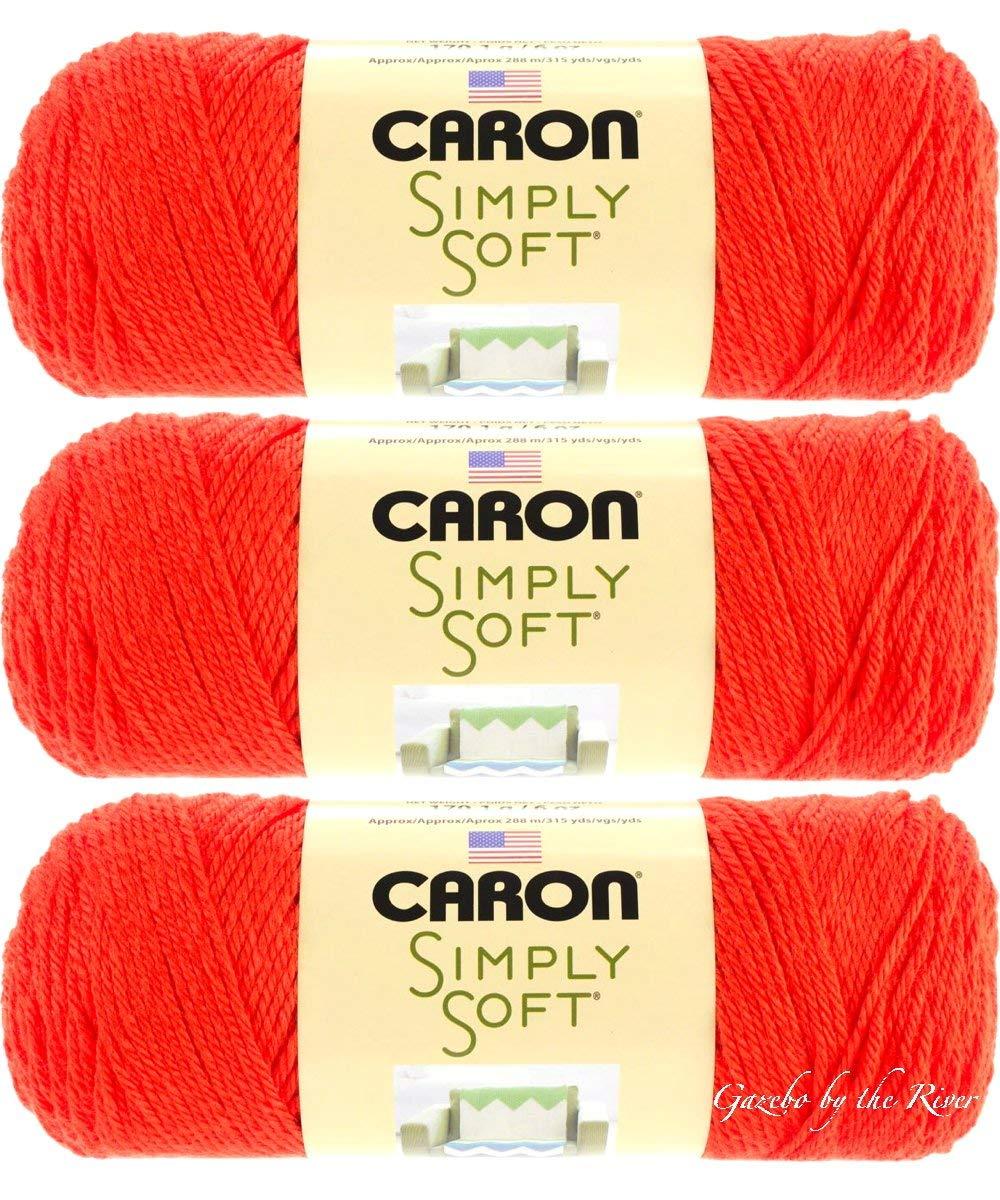 Bulk Buy: Caron Simply Soft Yarn Solids (3-Pack) Orange H97003-9778