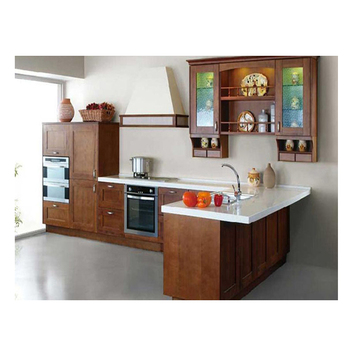 Intelligent Combined Melamine Kitchen Cabinet Round Corner Door