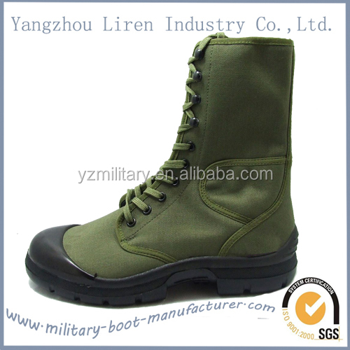 Green Olive colour Military Military Jungle combat boots