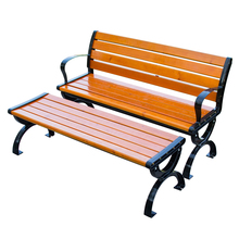 2016 new style Foshan Furniture recycled plastic park bench wood slats for cast iron bench