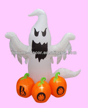 120cm Halloween inflatable ghost with three pumpkins