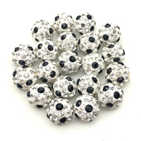 Football Disco Beads Crystal Pave Shamballa beads for jewelry making