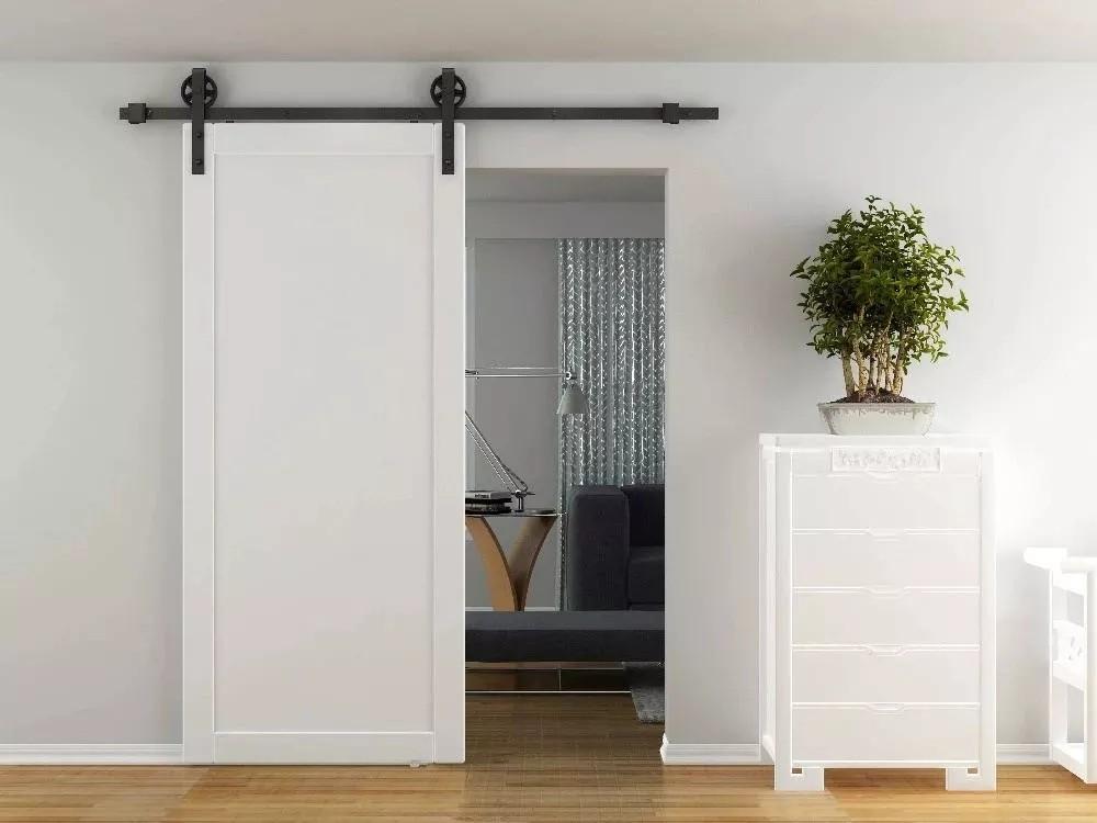 белая амбарная дверь