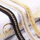 latest free sample offer gold plating clothing accessories chain lace trim