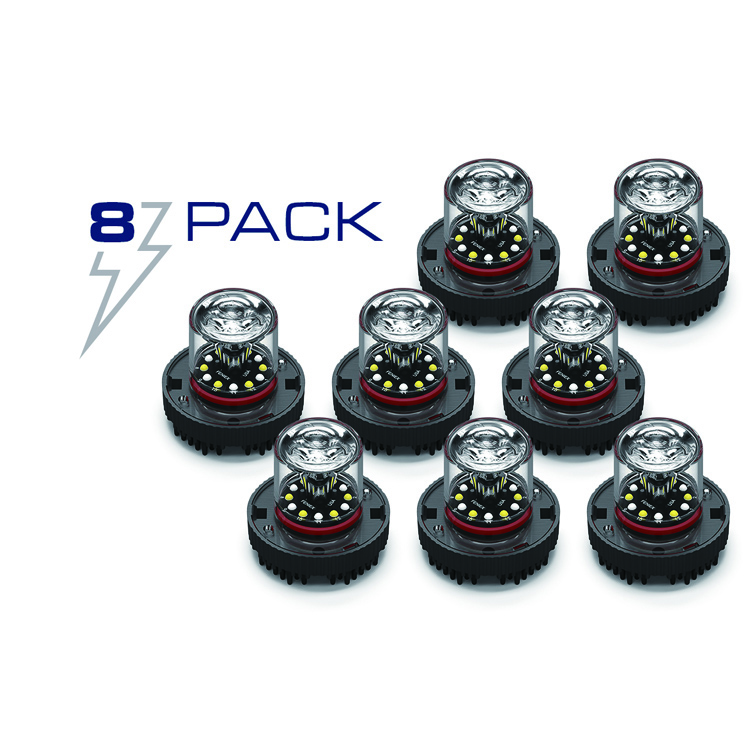 8 Pack llamarada 12 escondite llevó montaje en superficie mini led luces estroboscópicas