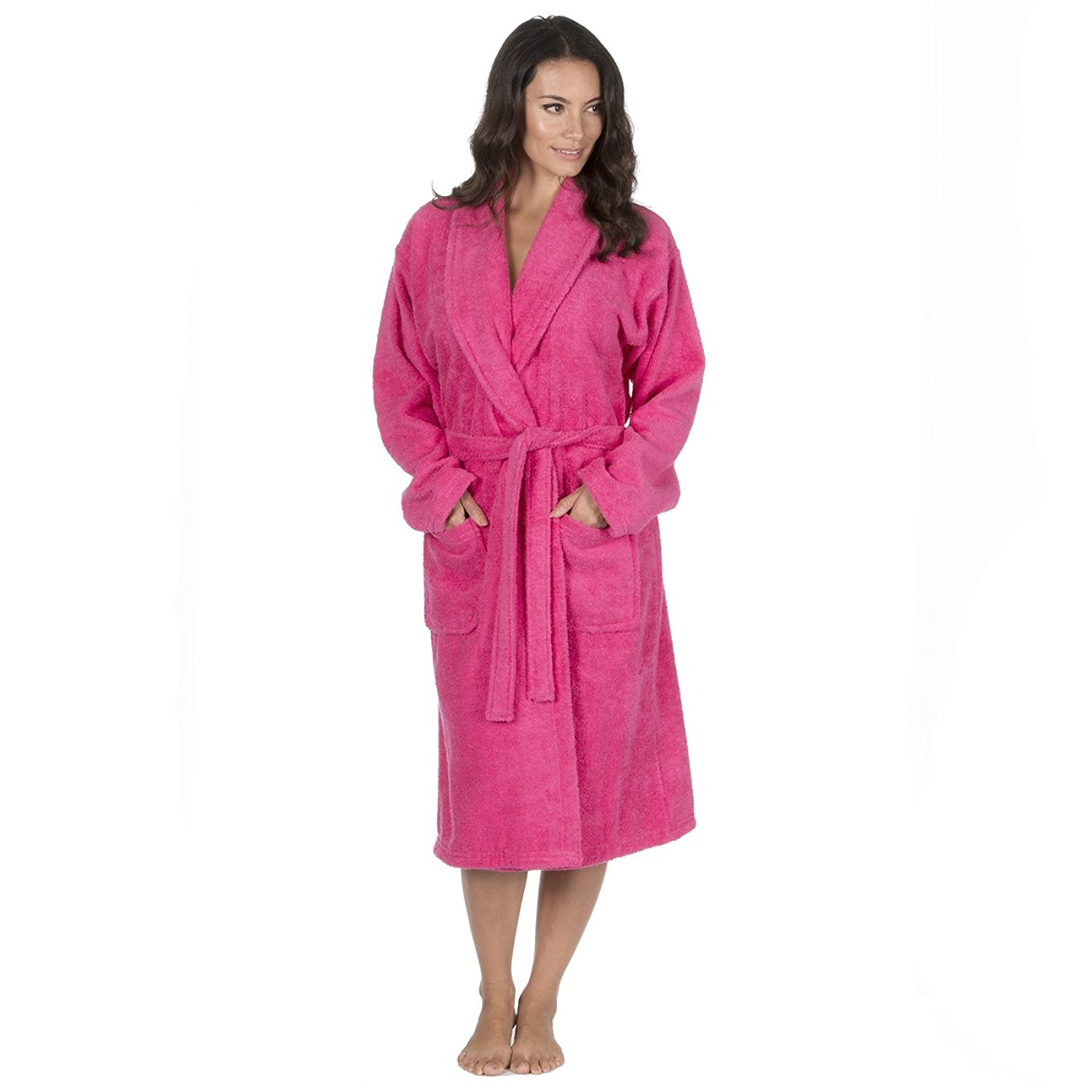 Get Quotations · Forever Dreaming Womens Luxury French Towelling Bath Robe  - Cotton Dressing Gown 7abed6396