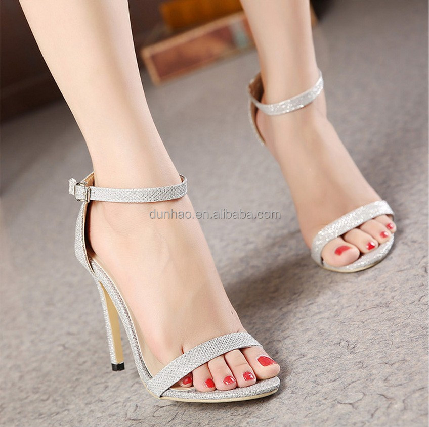 cf9630bf81d0 Ladies Fancy Sandals Latest Fashion Simple Girls High Heel Sandals ...
