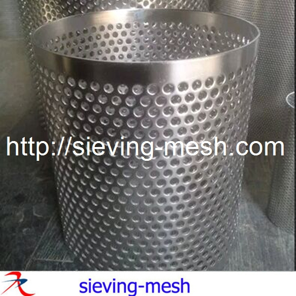 Fine Thin Perforated Mesh Pipe Stainless Steel