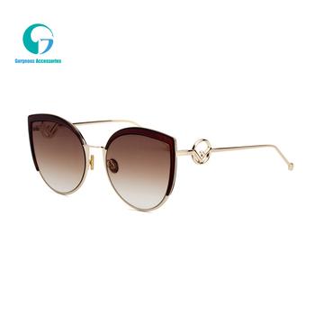11e17db4d85 2019 Women Ocean Lenses Sunglasses Large Frame Cat Eye Euramerican Street  Quality Sunglasses