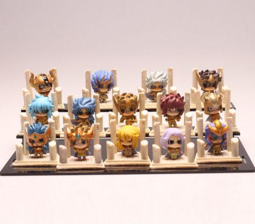 SAINT SEIYA Mini Figuras Los Caballeros del Zodiaco Oro Y bronce sets 7 unds.