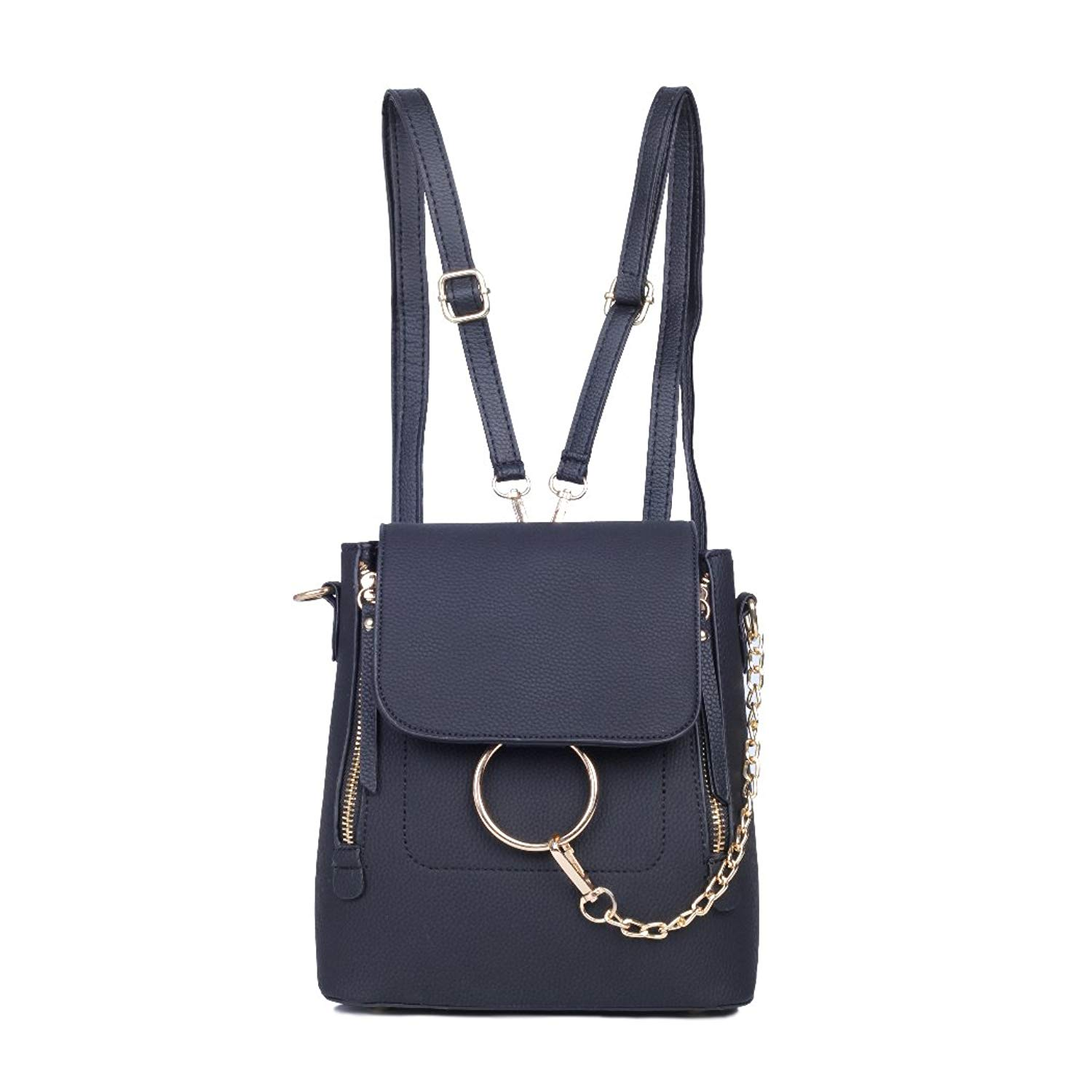 f78e063684 Get Quotations · Backpack Purse for Women Leather Women s Purse Backpack  Chain Cross Body Bag Shoulder Bags