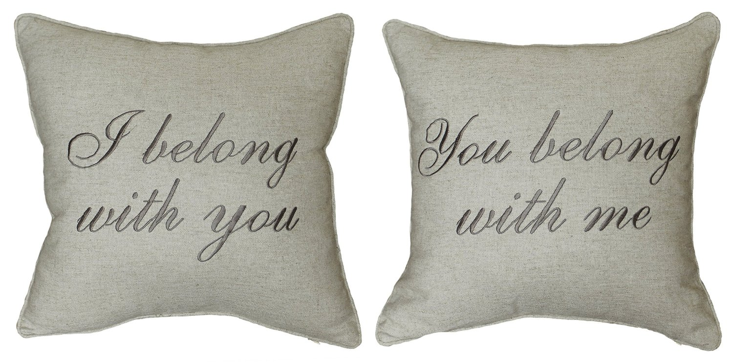 embroidered pillow case pillow with saying Pillow cover