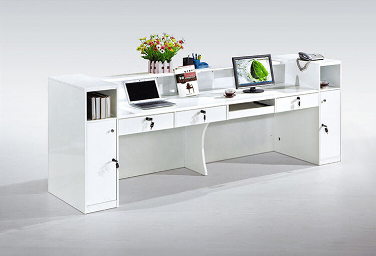 High end office furniture white cheap small modern office for White modern office furniture