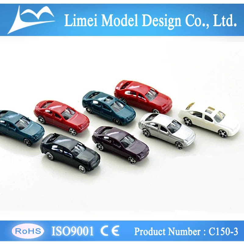 1:150 1:200 HO Plastic toy Scale Model Car for train layout