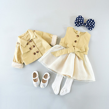 Kids fashion show dresses,  new year girls clothing set S5076