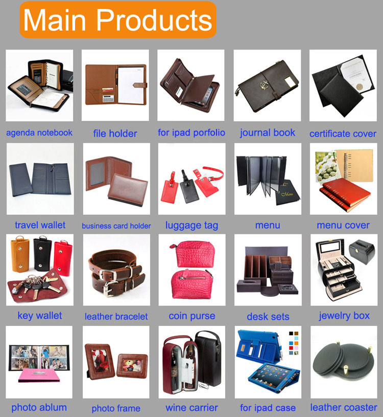 Wholesale Custom Print Journal Cover Loose Leaf Leather Diary Notebook With Pen Holder