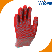 Anti Slip PVC Dotted Nylon String Knit Work Gloves