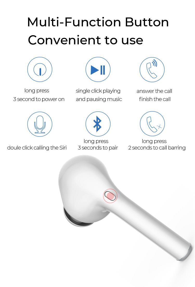 Myinnov M6S tws earphones noise canceling HD sound super bass V5.0 true stereo wireless bluetooth earbuds for phone