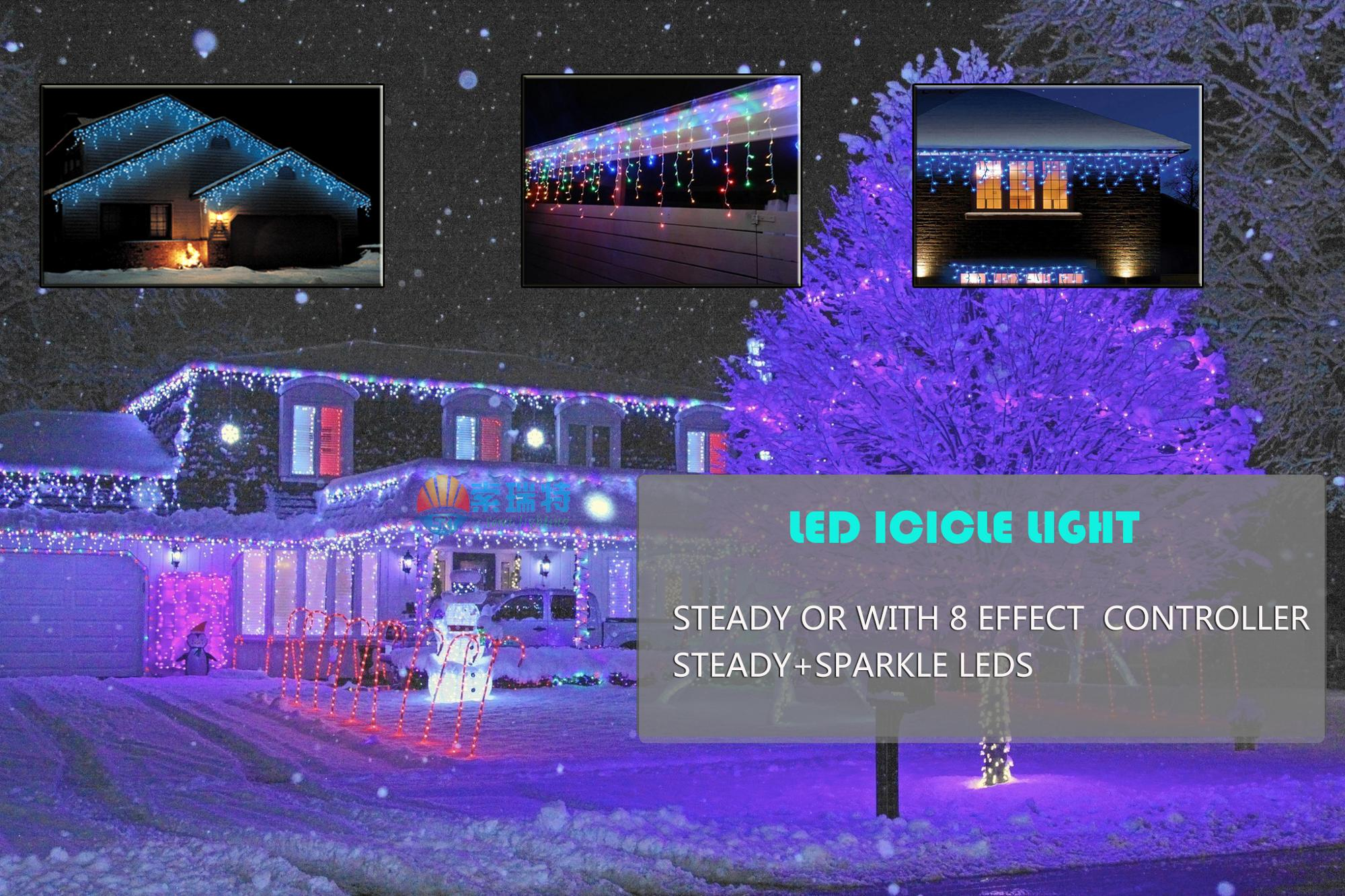 PINK/purple outdoor christmas icicle lights Customized Size Led Icicle Lights & Pink/purple Outdoor Christmas Icicle LightsCustomized Size Led ...