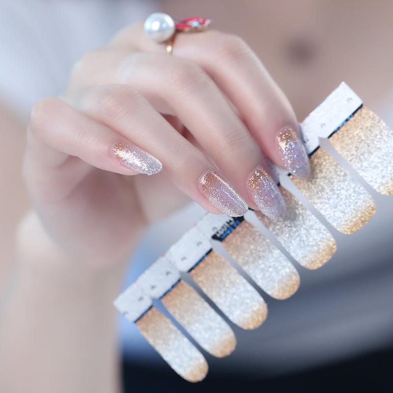 Professional Custom DIY nail art supplies wholesale custom glitter nail sticker