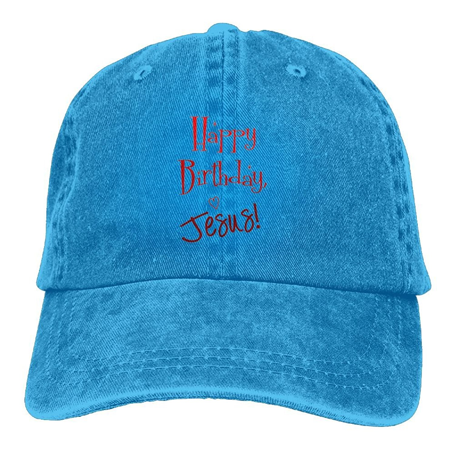 584ee9ceaa2 Get Quotations · FBGVFD Happy Birthday Jesus Baseball Caps Retro Top  Quality Snapback Hats For College Students