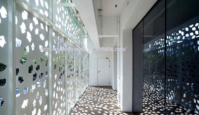 Architectural Perforated Metal Panels : Perforated wire mesh panel metal wall