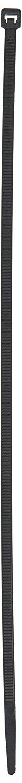 Tatco Tamper-proof Cable Ties, Black, 500 Pack, Loop Tensile, Nylon (TCO22700)
