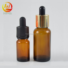 OEM 10ml brown e liquid / essential oil bottle drip 30ml amber glass dropper bottle with pipette