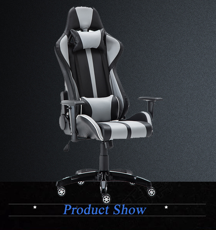 China Cheap Racing Gaming Stuhl Leather Desk Chair Game Room Chairs Racing PU Office Chair with Lumbar Support Armrest