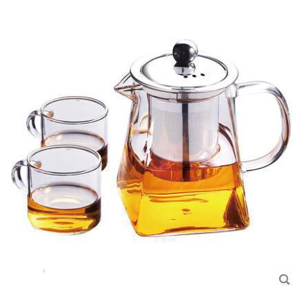 United 350ml Stainless Steel Transparent Coffee Filter Borosilicate Glass Coffee Filter Pot Teapot Elegant Home Tea Kettle Coffee Tool Coffee Filters Coffeeware