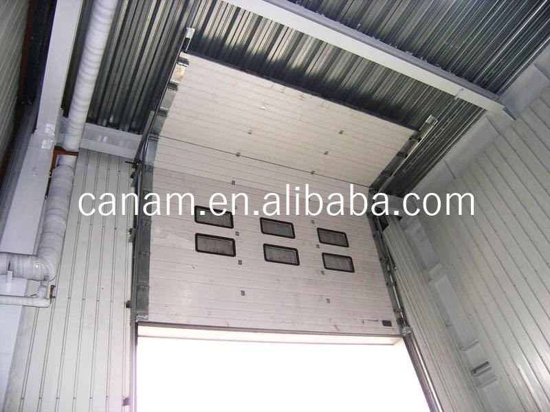 Security Sectional Steel Vertical Sliding Industrial Door with Pedestrian Door