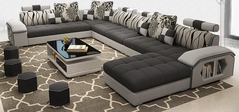 Grote Hoekbank U Vorm.Bellagio U Vorm Grote Stof Couch Moderne Hoekbank Woonkamer U