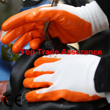 13G polyester cheap Nitrile coated working glove/ safety glove