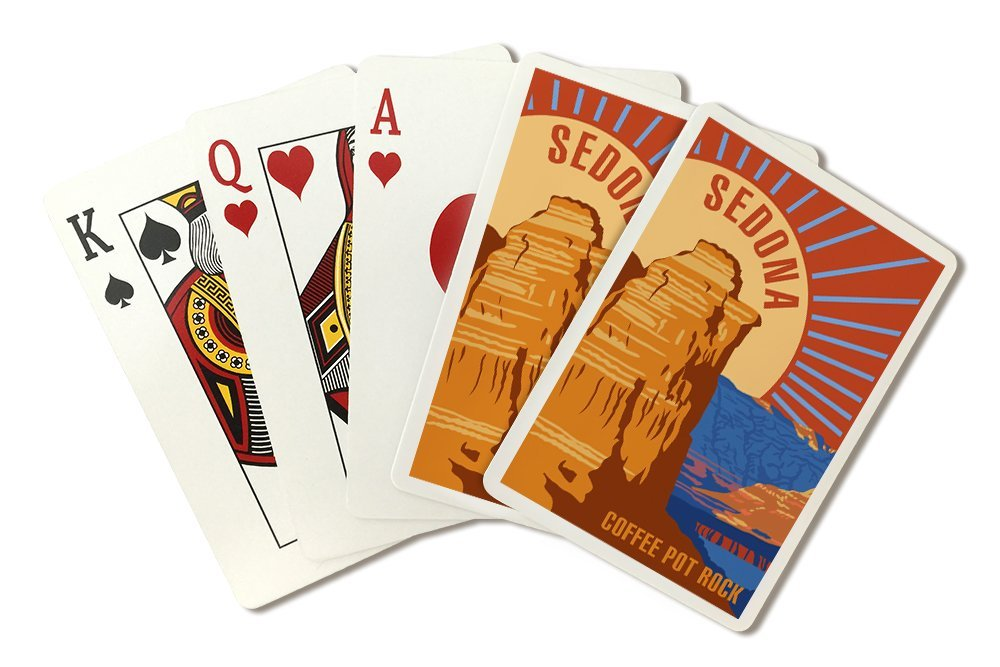 Sedona, Arizona - Coffee Pot Rock - Psychedelic (Playing Card Deck - 52 Card Poker Size with Jokers)