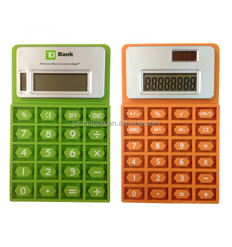 Hot Selling Stationery 8 Digit Silicone Pocket Calculator
