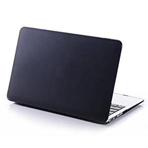 """HQF Ultra-thin Rubberized Frosted Matte Silky-Smooth Soft-Touch Protective Hard Shell Case Cover for Apple 13-inch MacBook Pro 13.3"""" with Retina Display A1502/A1425 [No CD-ROM](Dark Grey)"""