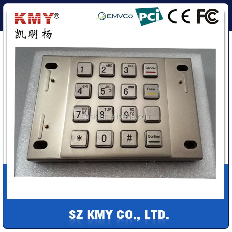 PCI 2.0 Certified EPP financial payment kiosk encrypted metal pinpad